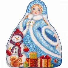 Набор для вышивания PANNA  PD-7203 Подушка Снегурочка 31х38,5 см