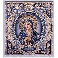 Набор для вышивания хрустальными бусинами ОБРАЗА В КАМЕНЬЯХ  7724 Богородица Умиление (жемчуг)