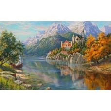 Картины по номерам Molly KH0979 Прищепа. Замок в горах 40х50 см