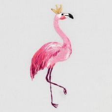 Набор для вышивания PANNA Живая картина  JK-2178 Фламинго 4х10,5 см