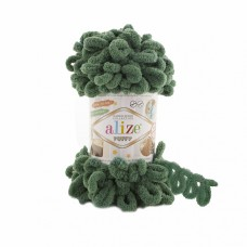 Пряжа для вязания Ализе Puffy (100% микрополиэстер) 5х100г/9.5м цв.532 зеленая трава