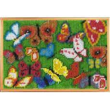 Набор для вышивания ВЫШИВАЛЬНАЯ МОЗАИКА  153МН Панно Бабочка 13,5х20см