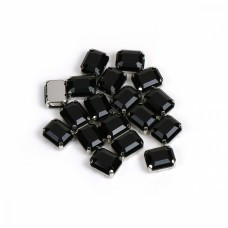 Стразы пришивные в цапах стекло TBY MS.29.B цв.черный 8х10 мм, уп. 50шт