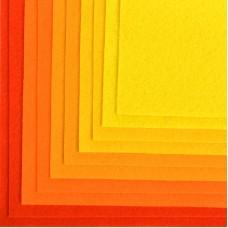 Набор листового фетра (мягкий) IDEAL 1мм 20х30см FLT-SA11 уп.10 листов цв.желтый ассорти