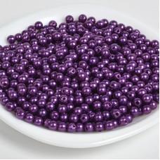 Бусины MAGIC 4 HOBBY круглые перламутр 12мм цв.133 фиолетовый уп.50г (53шт)