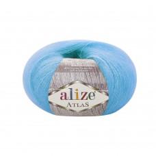Пряжа для вязания Ализе Atlas (49% шерсть, 51% полиэстер) 10х50г/250м цв.484 бирюзовый