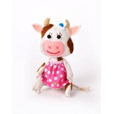 Набор для изготовления текстильной игрушки из фетра ПФД-1072 Корова Ромашка