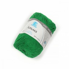 Пряжа для вязания КАМТ Альма (100% хлопок) 5х50г/170м цв.044 трава