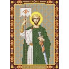 Наборы для вышивания бисером НОВА СЛОБОДА С 9185 Св.Константин 18x25 см