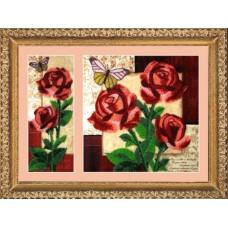 Набор для вышивания BUTTERFLY  258 Розы 26х10/26х26 см