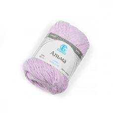 Пряжа для вязания КАМТ Альма (100% хлопок) 5х50г/170м цв.072 лаванда