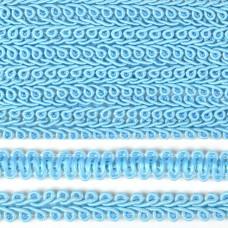 Тесьма TBY Шанель плетеная шир.12мм 0384-0016 цв.F184 синий уп.18,28м