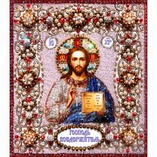 Набор для вышивания хрустальными бусинами ОБРАЗА В КАМЕНЬЯХ  77-Ц-03 Господь Вседержитель
