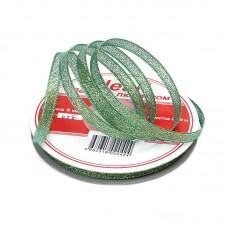 Лента IDEAL с люрексом ТВ-ЛЮР шир. 6мм цв.058 зеленый уп.22,85 м