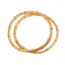 Ручка для сумки круг, МН-01955,бамбук ,15см, цв.натуральный, уп.2шт