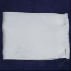 Лента атлас. для новорожденных с2206г17 шир.85мм цв.белый уп.20 м