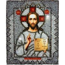 Набор для вышивания хрустальными бусинами ОБРАЗА В КАМЕНЬЯХ  7703 Господь Вседержитель 18х22,5 см