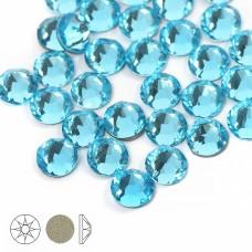 Стразы холодной фиксации Xirius 8+8 граней SS16 (3,8-4,0 мм) NH16-11 цв.Aquamarine, уп.100шт
