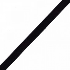Лента бархатная эластичная TBY.LB1003.EL нейлон шир.10мм цв.черный уп.30м