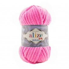 Пряжа для вязания Ализе Velluto (100% микрополиэстер) 5х100г/68м цв.121 леденец