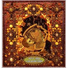 Набор для вышивания хрустальными бусинами ОБРАЗА В КАМЕНЬЯХ  77-Ц-05 Богородица Владимирская