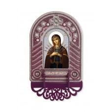 Набор для вышивания бисером НОВА СЛОБОДА ВК1026 Богородица Семистрельная 10х13 см