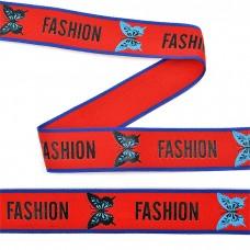Тесьма-стропа TBY декоративная Fashion TPP0125 шир.25мм цв. красный уп.45,7м