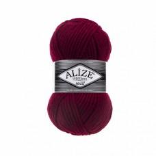 Пряжа для вязания Ализе Superlana maxi (25% шерсть, 75% акрил) 5х100г/100м цв.390 т.красный