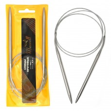 Спицы для вязания круговые Maxwell Gold, металлические на тросике 100-60 ?6,0 мм /100 см