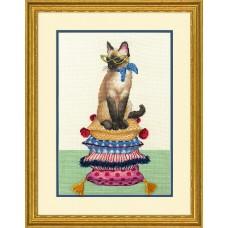Набор для вышивания DIMENSIONS DMS-70-35367 Леди Кошка 25,4х35,6 см