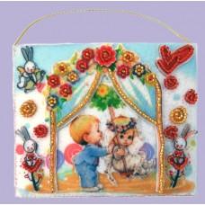 Набор для вышивания декоративных игрушек BUTTERFLY  F506 Подарочный конвертик 10х12 см