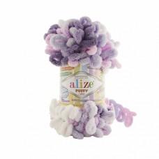 Пряжа для вязания Ализе Puffy color (100% микрополиэстер) 5х100г/9м цв.6305