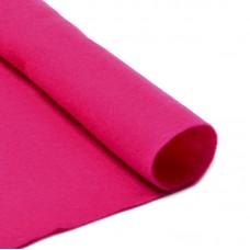 Фетр в рулоне жесткий IDEAL 1мм 100см FLT-H2 уп.10м цв.609 ярк.розовый