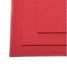 Фетр листовой мягкий IDEAL 1мм 20х30см FLT-S1 уп.10 листов цв.607 т.красный