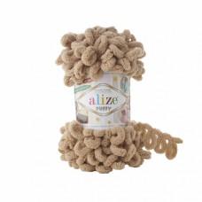 Пряжа для вязания Ализе Puffy (100% микрополиэстер) 5х100г/9.5м цв.262 бежевый