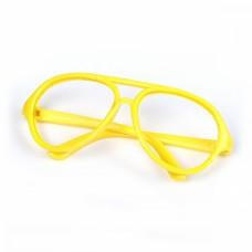 Очки без стекла TBY.53732 цв.желтый 7см, круглые пластик уп.10шт