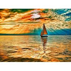 Картины по номерам Molly KH0654 Заход солнца (22 цвета) 40х50 см