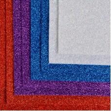 Набор листового фетра (глиттерный) IDEAL 1,4мм 20х30см FLT-GL2 уп.8 листов цв.ассорти