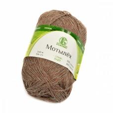 Пряжа для вязания КАМТ Мотылек (70% хлопок, 30% лавсан) 5х50г/140м цв.101 капучино