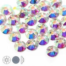 Стразы термоклеевые Xirius 8+8 граней SS16 (3,8-4,0 мм) HF16-02.100 цв.Crystal AB, уп.100шт