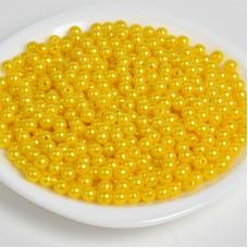 Бусины MAGIC 4 HOBBY круглые перламутр 4мм цв.A08 лимон уп.50г (1500шт)