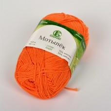 Пряжа для вязания КАМТ Мотылек (70% хлопок, 30% лавсан) 5х50г/140м цв.035 оранжевый