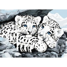 Алмазная вышивка Ягуарята LE051 30х40 тм Цветной