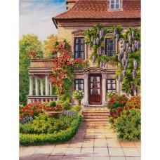 Набор для вышивания PANNA Живая картина  ЖК-2167 Дом с палисадником 19,5х26,5 см