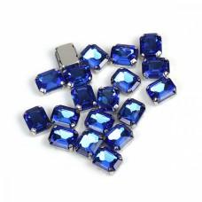 Стразы пришивные в цапах стекло TBY MS.322.LB цв.голубой 8х10 мм, уп. 50шт