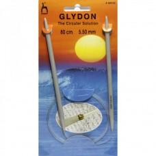 PN.48955 PONY GLYDON Спицы круговые 5,50 мм/80 см, пластик, 2 шт