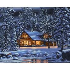 Картины по номерам Зимним вечером GX8141 40х50 тм Цветной