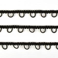 Тесьма TBY с эластичными петлями 78353 шир.15мм цв.F322 черный уп.22,9м