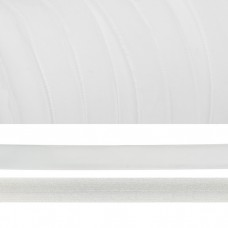 Лента бархатная TBY.LB1002 нейлон шир.10мм цв.белый уп.20м
