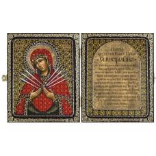 Наборы для вышивания бисером НОВА СЛОБОДА СА7107 Образ Пресв. Богородицы Семистрельная
